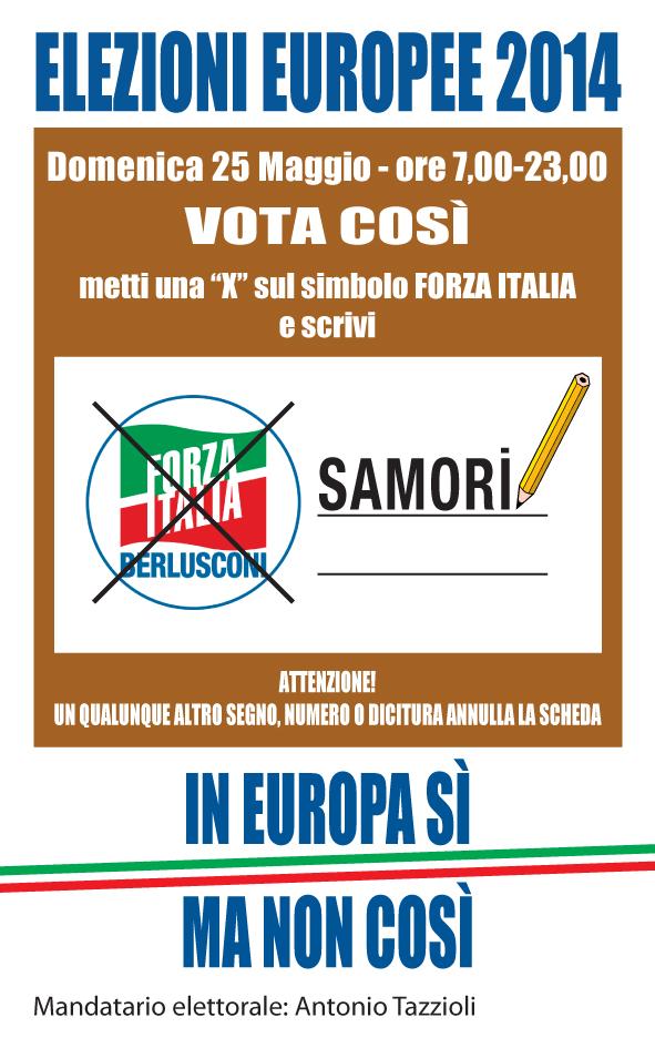 samorì scheda elezioni europee 2014