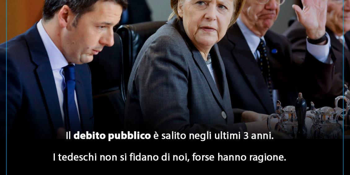 gianpiero Samorì Merkel tedeschi debito pubblico