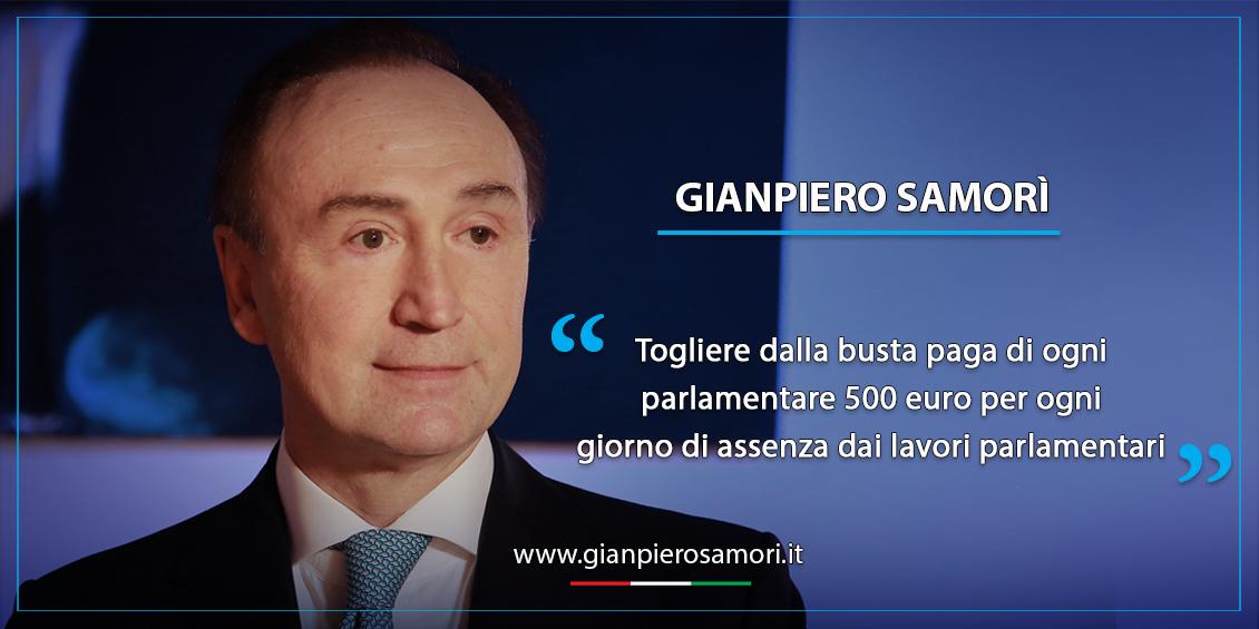 gianpiero Samorì fine vita stipendi dei parlamentari