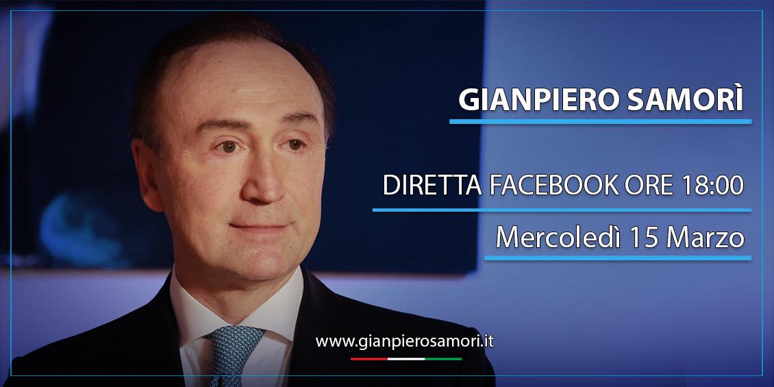gianpiero Samorì 15 Marzo Diretta facebook