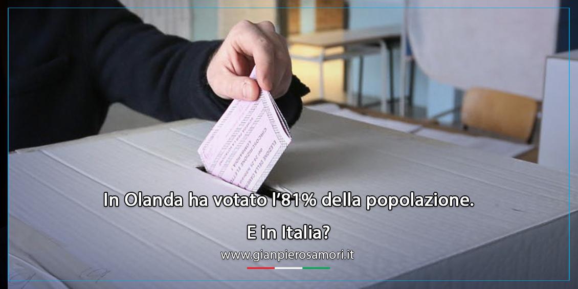 gianpiero Samorì Olanda voto