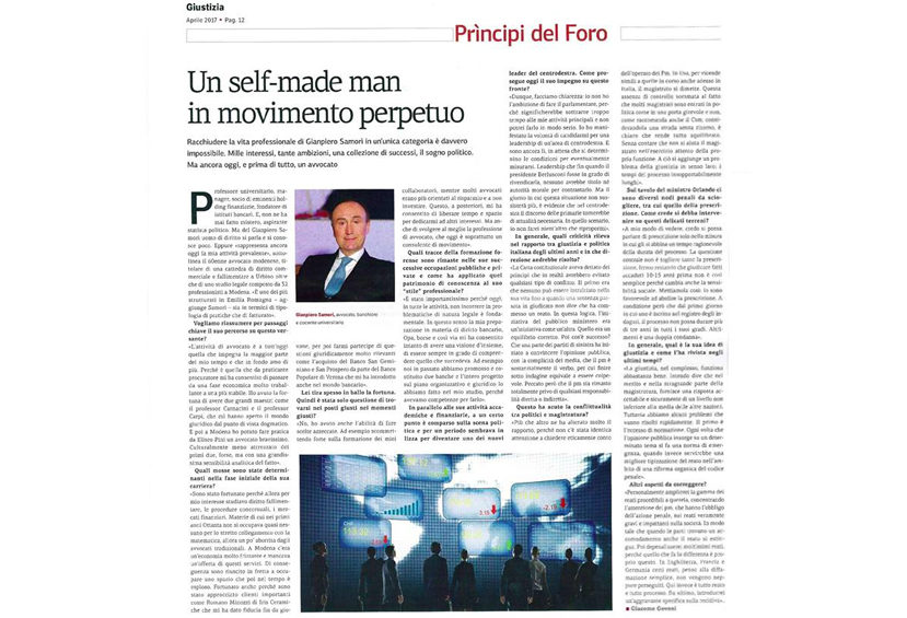 Giustizia - Articolo gianpiero Samorì 2017