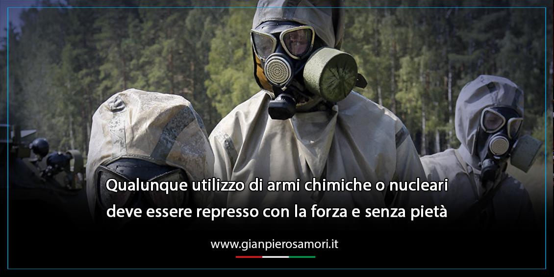 gianpiero Samorì contro Armi chimiche
